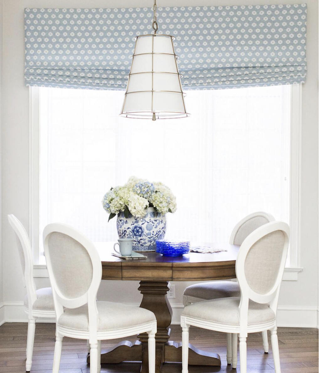 Completely new Bay Window Roman Shades CUSTOM size blue roman shades dining  UM48