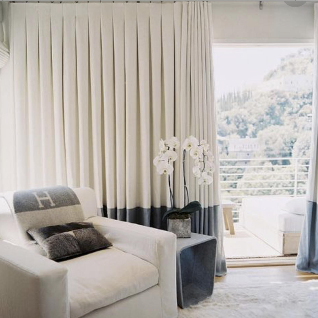 COLOR BLOCK CURTAINS Colorblock Curtains Two Color Dipped Band Banded