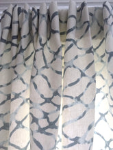 Kravet curtains Waterpolo Jeffrey Alan Marks grey curtains blue NETSCAPE curtain panels water print curtains gray curtains gray and white