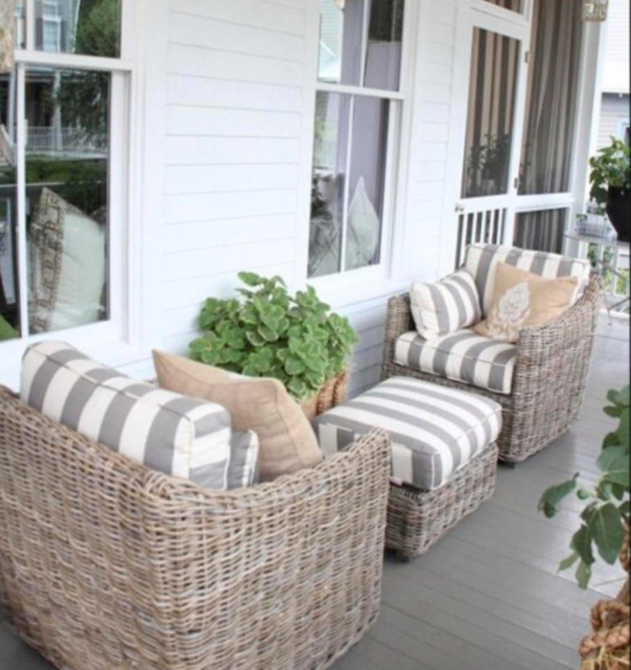 Porch Swing Cover White Grey Mattress Cover Piping Outdoor