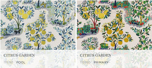 Citrus Garden Primary Roman Shade