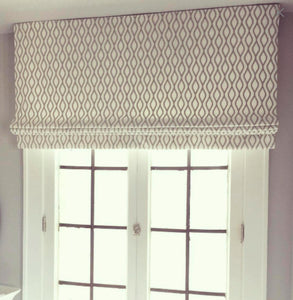 Roman shades taupe beige gray diamond roman shade on white cotton linen roman shade kitchen faux roman shades bedroom window shade bay door