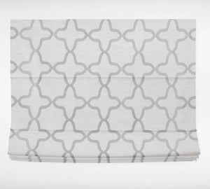 Roman shades grey ogee CUSTOM sizes CHILDSAFE trellis natural white gray roman shade