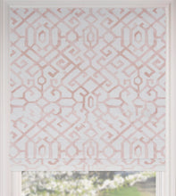 Blush curtains Roman shades CUSTOM size trellis pink roman shades quatrefoil window shade window valence rose linen roman shade pale pink