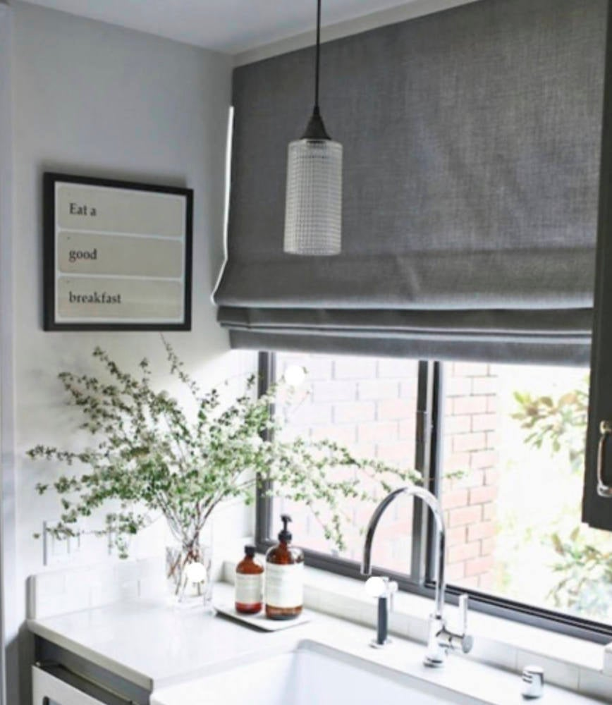 CUSTOM Roman Shades Linen Grey Gray Natural White Offwhite Ivory Roman Shade  Bathroom Relaxed Linen Window ...