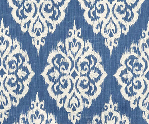 QUICK SHIP PAIR Blue Ikat curtains blue white curtains navy drapes curtains custom designer curtain panel dining extra long blue navy ikat