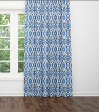 Blue Ikat Curtains navy ikat curtains dining room curtains blue ethnic curtains blue curtains long ikat drapes curtains ikat drapes blues