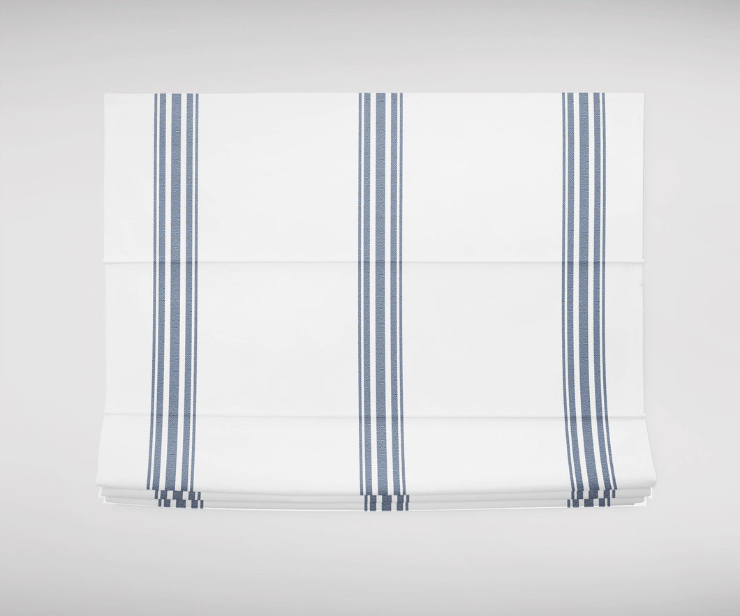 Blue french ticking Roman shades blue and white roman shade navy blue various colors roman shade bedroom roman blinds blue stripe shade