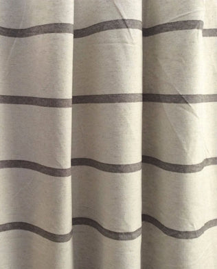 Modern Farmhouse Shower curtain stripe brown stripe brown ticking striped fabric shower curtain shower curtain extra long extra wide linen