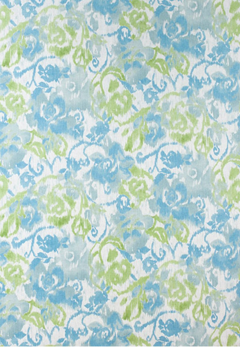 BLUE GREEN curtains THIBAUT curtains curtain panels light blue colored drapes aqua curtains living room curtains sunroom curtains florida