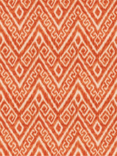 Orange IKAT curtains orange ikat fabric curtains drapes curtains custom pumpkin curtain panel dining extra long orange curtain panel linen