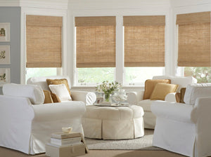 Bamboo shades jute window shades woven wood shades light jute shades natural wood shades cordless roman shade tan beige grass