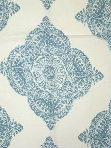 Blue and white curtains medallion curtains John Robshaw curtains Mani modern blue curtains block print curtains global curtains ethnic india