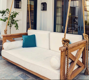 Porch swing cover white mattress cover outdoor bed twin mattress cover indoor outdoor Sunbrella mattress cover day bed sheet porch offwhite