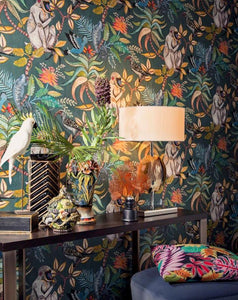 Cole and Son SAVUTI wallpaper cole and sons wallpaper monkey wallpaper jungle wallpaper lee jofa wallpaper savuti armore collection