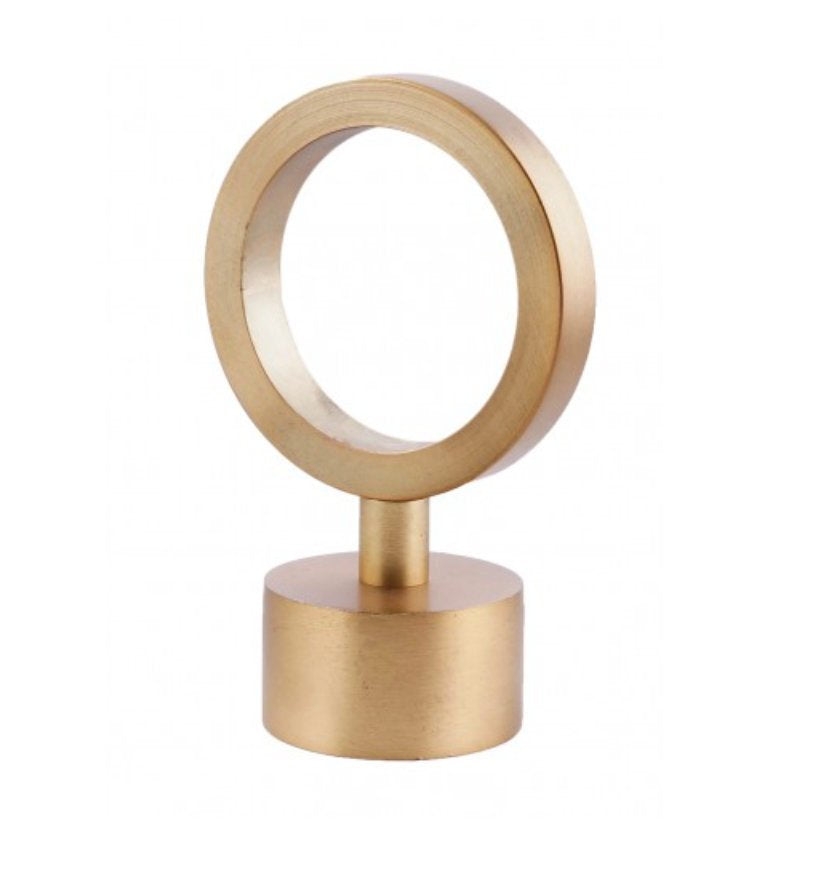 Brass Finial Lucite Rod End Cap Gold Finial 1.5 diameter rod Brass Curtain Rod Finial Brass curtain finial Gold Curtain Round Acrylic Finial