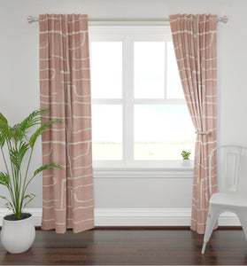 Black cream curtains salmon pink curtains graffiti modern curtains paint stroke curtains one room challenge modern luxe curtains  drape