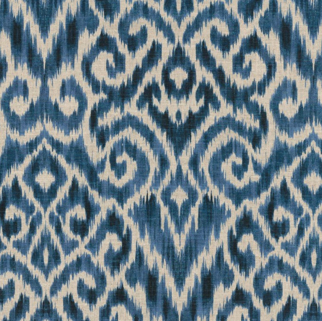 Blue ikat Roman Shades QUICK SHIP navy ikat roman shades navy blue kitchen window shades blue roman shades ikat valence window valence blue