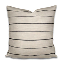 QUICK SHIP Black and Cream Stripe Pillow Cover Onyx stripe pillow black stripe pillow neutrals texture extra long lumbar