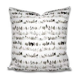 Stone grey pillow cover dots speckled grey white pillow cover spots pillow swirl dash pillow dashes paint daubs neutral boho pillow