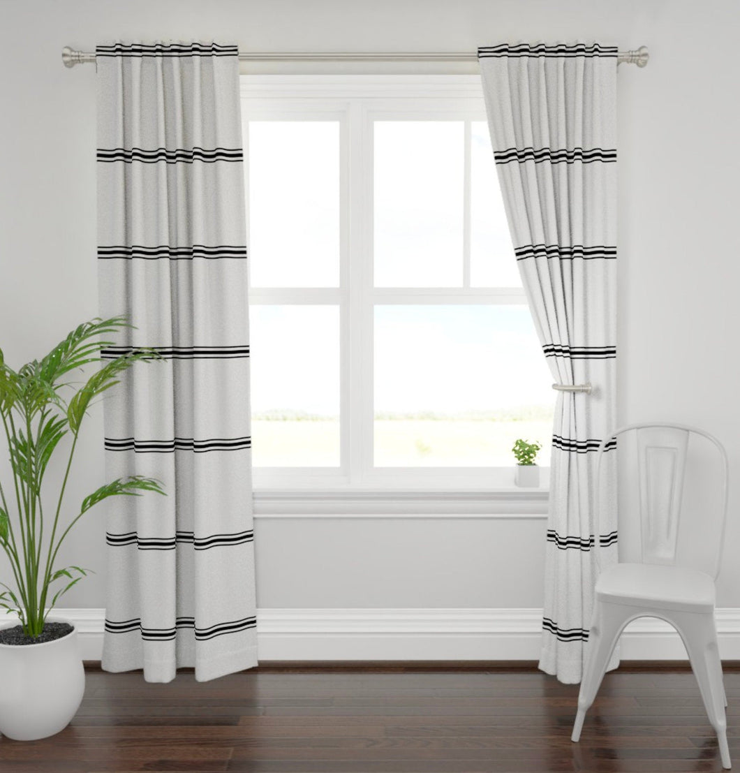 Modern farmhouse curtains striped farmhouse curtains new farmhouse curtains black gray stripe curtains black gray stripe curtains long wide