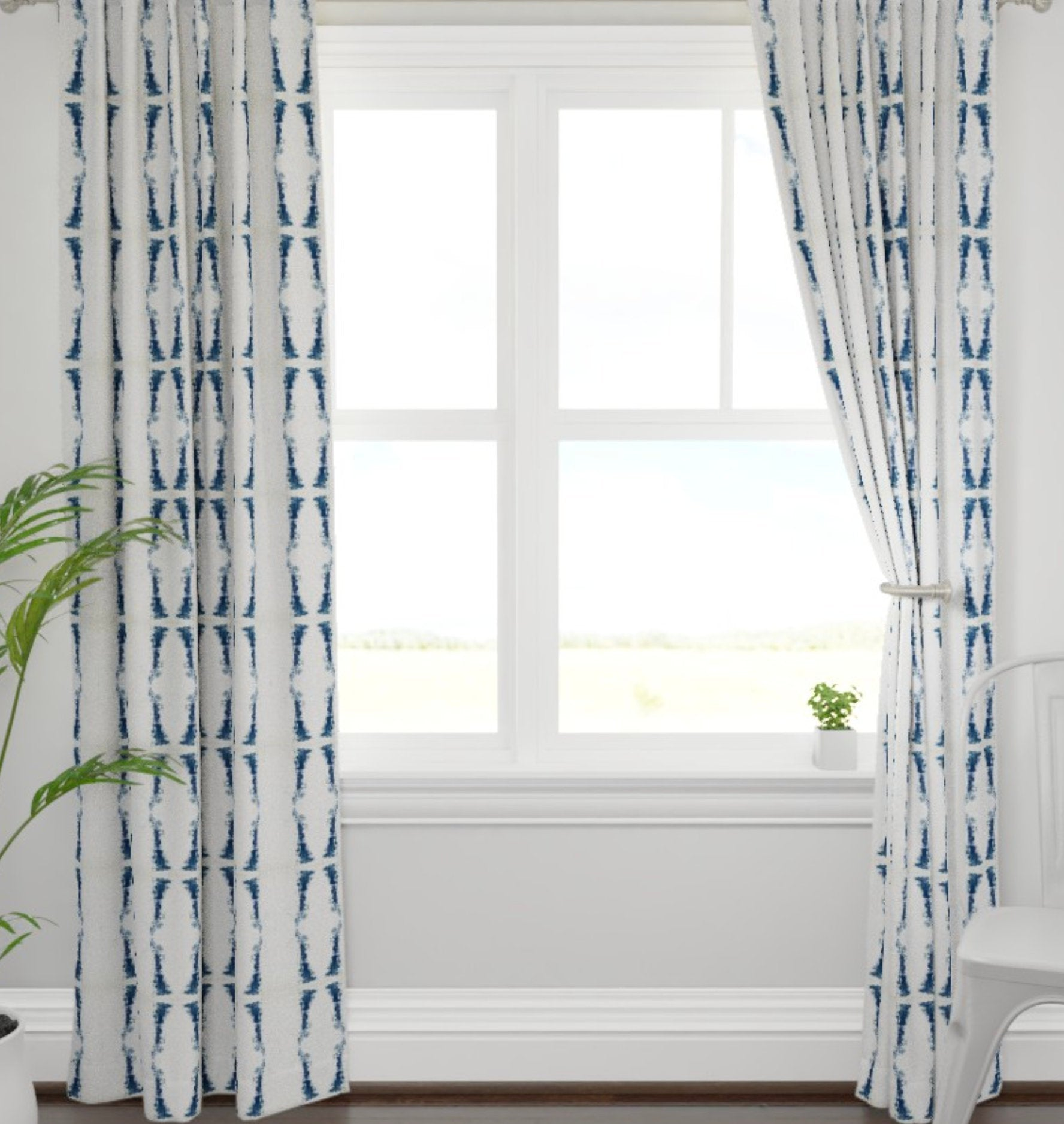 Navy Curtains Dark Blue And White Drapes Navy Ikat Curtains Navy Ikat Jll Home