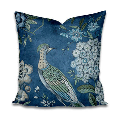 PILLOW COVER SALE Thibaut Villeneuve floral pillows navy blue pillow thibaut pillow villeneuve pillow pillow Floral Pheasant anna french