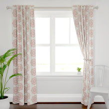 Red Chambray Curtains medallion curtains red farmhouse curtains ivory cream and red curtains country chic modern country curtains red drape
