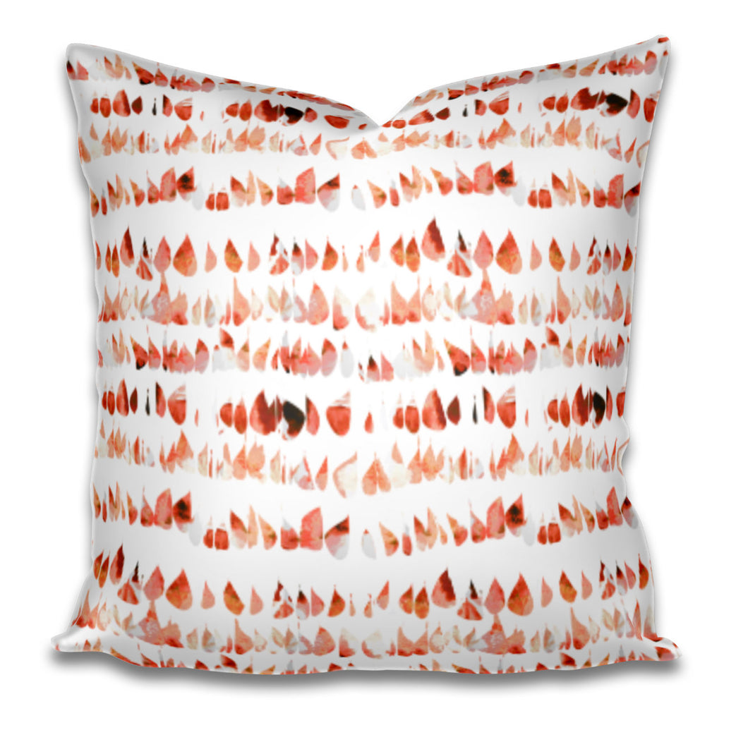 Tangerine pillow cover dots speckled orange white pillow cover spots pillow swirl dash pillow dashes paint daubs watercolor boho pillow