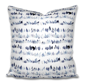 Blue watercolor dots pillow cover dots speckled blue white pillow cover spots pillow swirl dash pillow dashes paint daubs watercolor boho