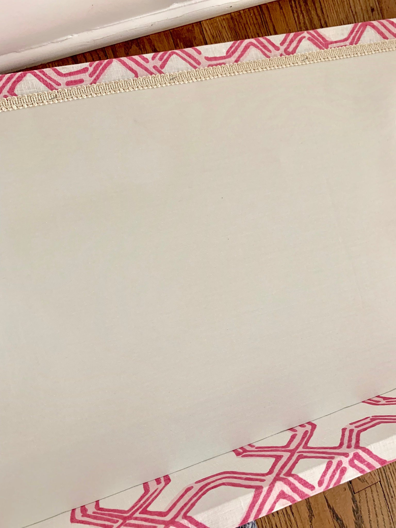 Pink White Cornice Lee Jofa Lilly Pulitzer Well Connected Fabric In