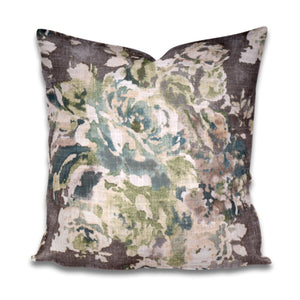 Grey floral pillow venus cindersmoke pillow covington pillow cover grey green blush pillow taupe pillow cover taupe gray pillow cover gray