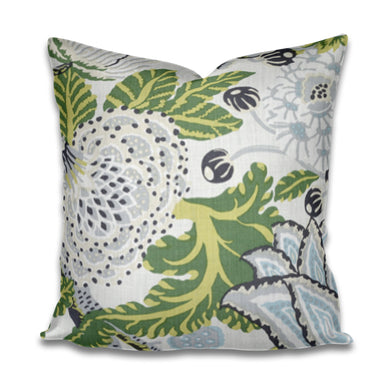 QUICK SHIP Thibaut Mitford Pillow Cover Mitford Green and White Aqua pillow cover thibaut pillow thibaut floral pillow large floral pillow