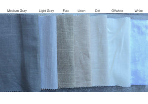CUSTOM Roman shades linen grey gray white offwhite ivory roman shade bathroom relaxed or flat linen window shade linen shade blackout