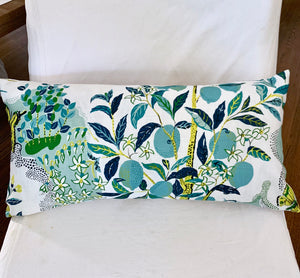 QUICK SHIP OUTDOOR Citrus Garden Pillow covers pool 12x24 indoor outdoor Schumacher pillow cover citrus garden pillows citrus garden pool