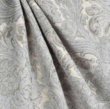 French grey curtains chenille damask country farmhouse curtains shabby chic custom curtain panel grey linen curtains light grey curtains