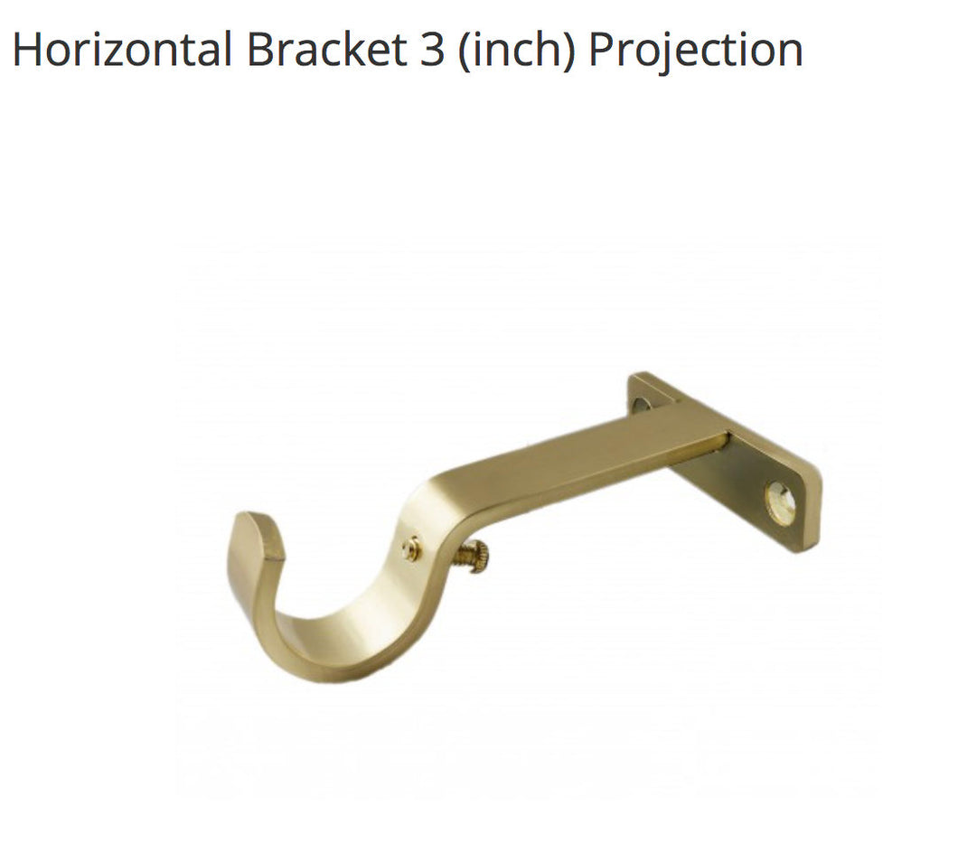 Curtain Rod Bracket basic support bracket BRACKET Acrylic bracket Brass Curtain Rod bracket end bracket center bracket Brass Round Gold
