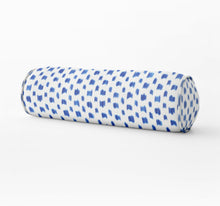 Schumacher Izmir Ikat lumbar blue Bed bolster round bolster izmir stripe long bolster bedroom pillow long lumbar pillow neck roll pillow