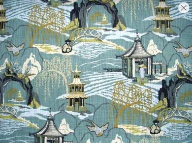 Modern Toile curtains Neo Toile oriental curtains blue yellow curtain panels extra long curtains blue curtains navy pleated blackout curtain