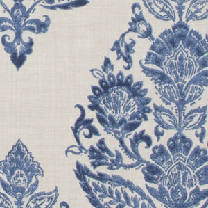 Navy medallion curtains BLUE curtains medium blue and white drapes navy block print curtains blue grey ikat drapes blue white window treat