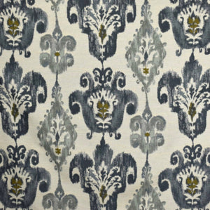 BLUE ikat curtains large ikat curtains navy grey curtains navy gray ikat curtains grey and navy drapes living room drapes beige ikat curtain
