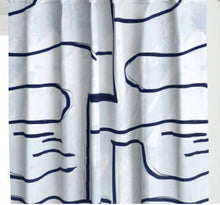 NAVY WHITE curtains brush stroke curtains graffiti modern curtains paint stroke curtains painterly navy curtains blue white large scale mod
