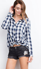 Striped Flannel Top