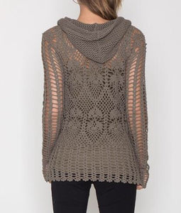 Knit Hooded Top