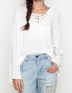 Front lace up Top
