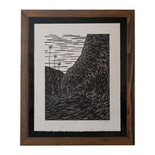 'Na Pali' Original Woodcut Print (framed) 3/25
