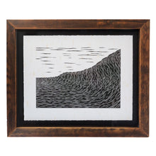 'Refraction' Original Woodcut Print (framed)