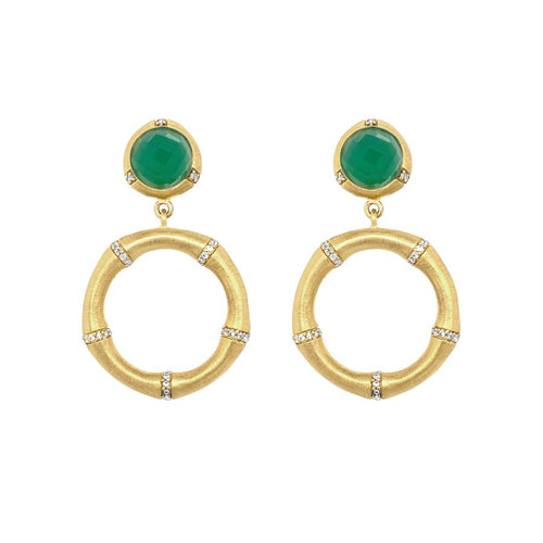 Dean Davidson Bamboo Pave Drop Earrings