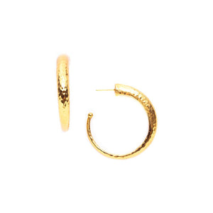 Julie Vos Hammered Hoop Earring