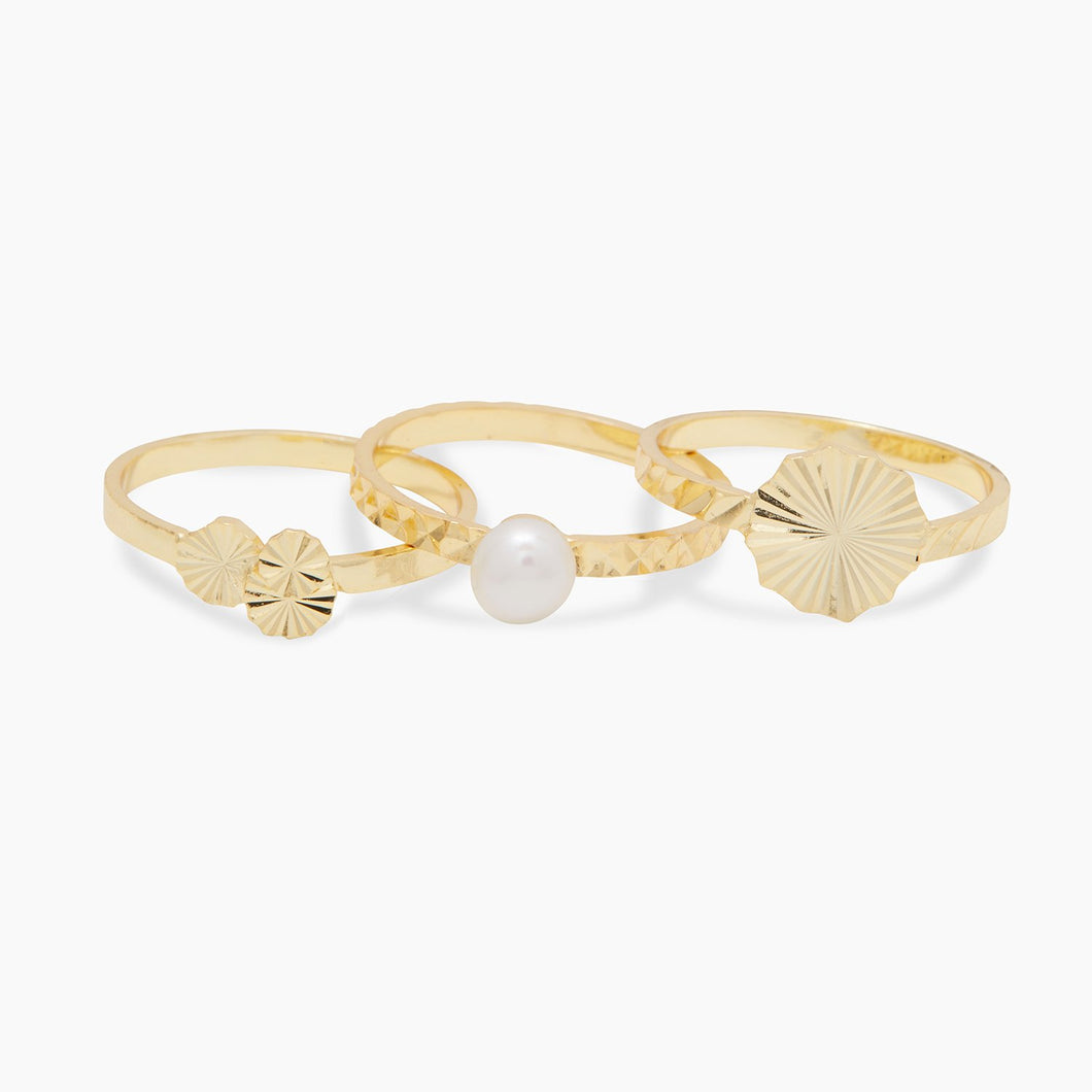 Gorjana Alice Pearl Ring Set